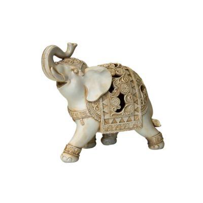 Escultura Elefante Poliresina Bariloche 18.4X17 Centímetros Beige