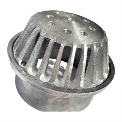 Rejilla Cúpula 6 pulg x 4 pulg Aluminio Tubería 4 pulg