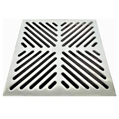 Rejilla Plana Decorativa 4 pulg x 4 pulg Aluminio Tubería 4 pulg