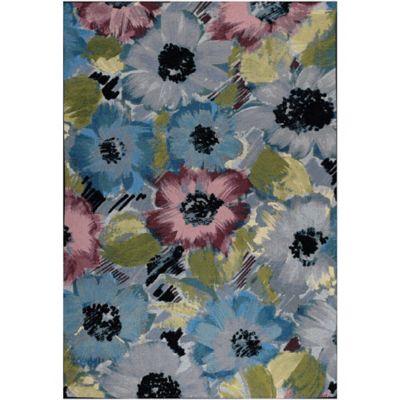 Tapete de Área Blossom 152x244 cm Azul