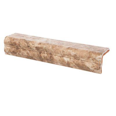 Peldaño Marrón Brillo 33.5x6.5x5.5 Cm