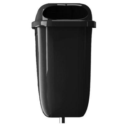 Contenedor de Residuos Poste 50Lt Negro
