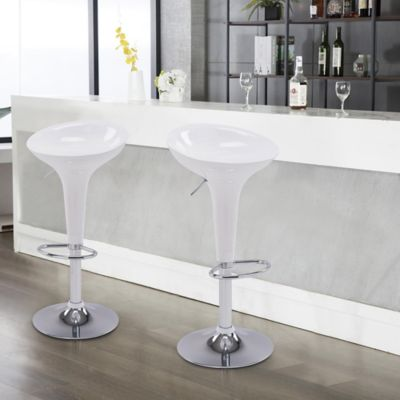 Silla Bar Tulipa Blanco
