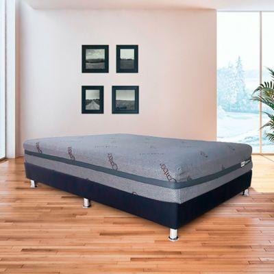 Colchón Semidoble Practy Sleep + Protector 120x190 Gris