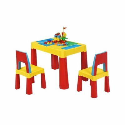 Mesa Infantil y 2 Sillas 2 en 1 PC Multicolor