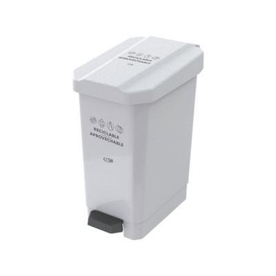 Caneca Papelera Pedal 44 Litros Blanco Reciclable Aprovechable