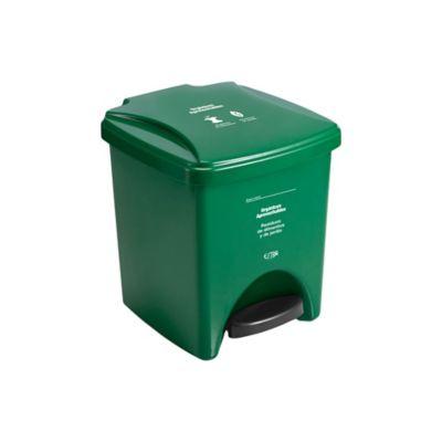 Papelera Pedal 20 Litros Verde Orgánico Aprovechable