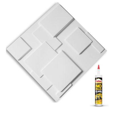 Panel 3d Paqx12 Paneles 50x50cms 3mts²+Pegante Sp08