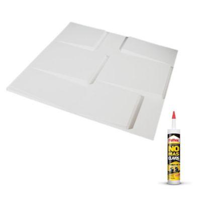 Panel 3d Paqx12 Paneles 50x50cms 3mts² + Pegante Sp05