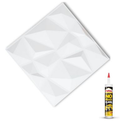 Panel 3d Paqx12 Paneles 40x40cms 1.92mts²+Pegan Sp06