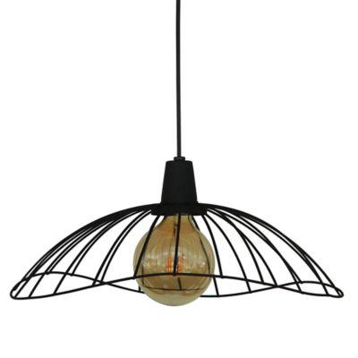 Lámpara Colgante Puntilla Techo 1 Luz Negro