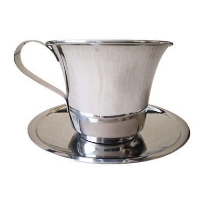Pocillo Café Térmico y Plato x4 Acero Quirúrgico