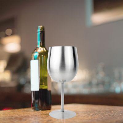 Copa de Vino x4 Acero Quirúrgico 17cm
