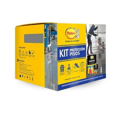 Kit Protección Pisos Pintucoat Gris 1.5 Galones