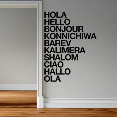 Sticker Decorativo Hola en Todos Los Idiomas