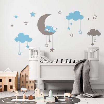 Sticker Decorativo Infantil Oso en La Luna