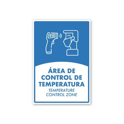 Señal Area Control de Temperatura 24x35Cm