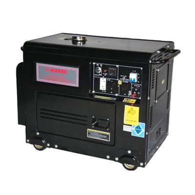 Generador Eléctrico a Diésel 5000W 110/220V Cabinado