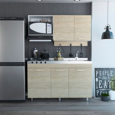 Cocina Integral Miro 1.50 Metros Incluye Mesón Derecho Roveré 150 cm