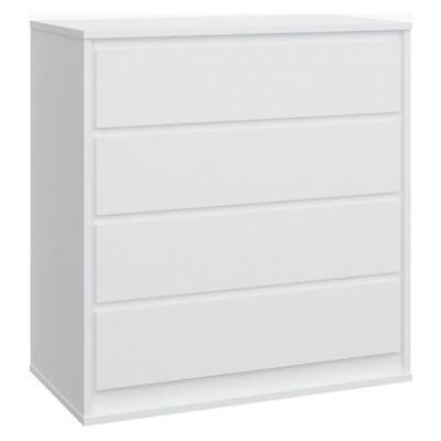 Cómoda 4 Cajones Stillo 94.4x90.3x48.3 Blanco