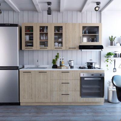 Cocina Integral Solna 2.10 Metros Roveré Incluye Mesón Izquierdo