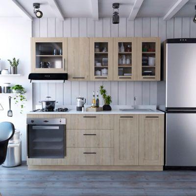Cocina Integral Solna 2.10 Metros Roveré Incluye Mesón Derecho