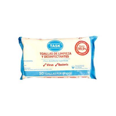 Paños Húmedos Desinfectantes Superficies Paquete x50 Unidades