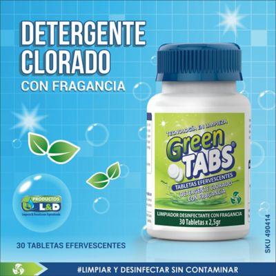 Limpiador Pisos Paredes Greentabs x30 Unidades 2.5gr c/u
