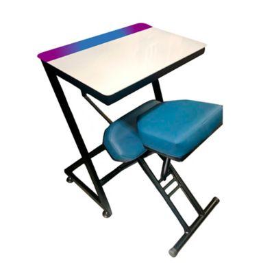 Silla + Mesa Ergo Estudio Infantil 75x80x60 Turquesa Negra