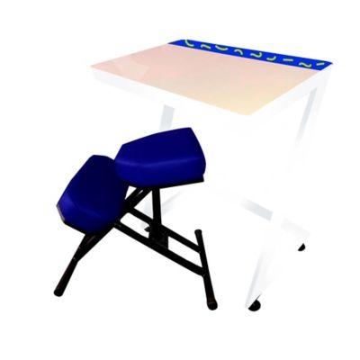 Silla + Mesa Ergo Estudio Infantil 75x80x60 Azul Rey Blanco