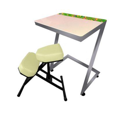 Silla + Mesa Ergo Estudio Infantil 75x80x60 Beige Gris