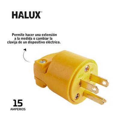 Clavija En PVC Con Polo A Tierra Halux