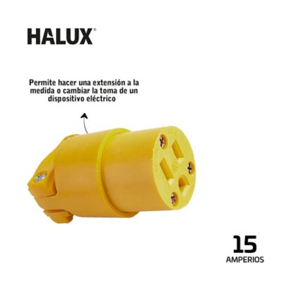 Toma Aerea En PVC Con Polo A Tierra Halux