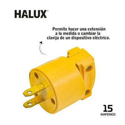 Clavija En PVC Polarizada Halux