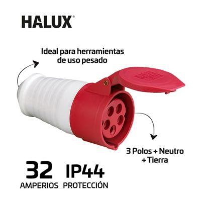 Toma Aerea Industrial 5 Polos Tapa Proteccion Ip44