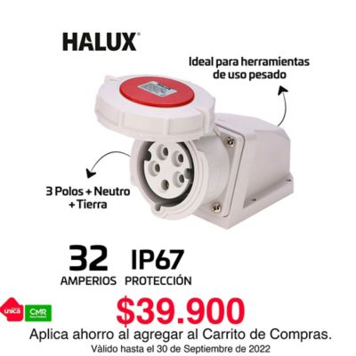 Toma Industrial Pared Exteriores Ip67 5 Polos Tapa