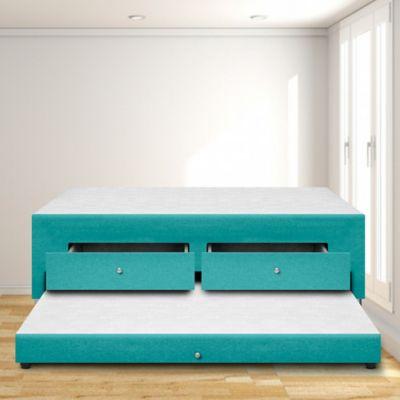 Cama Nido Cajón + Doble 140x190 Microfibra Azul