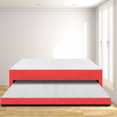 Cama Nido Semidoble 120x190 Microfibra Rojo