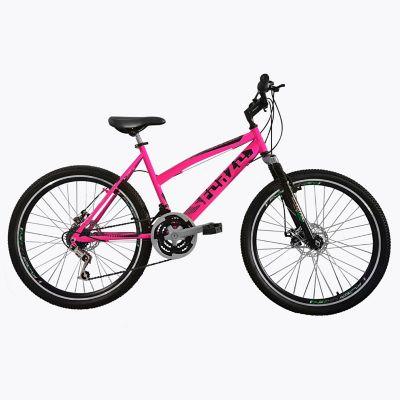 Bicicleta Dama R26 18Vel F Disco+Suspensión Rosado