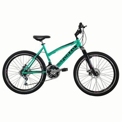 Bicicleta Dama R26 18Vel F Disco+Suspensión Verde