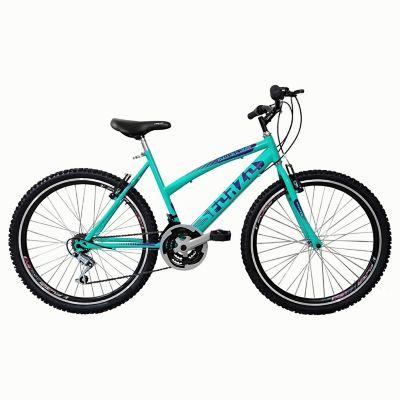 Bicicleta Dama R26 Doble Pared 18Vel Verde Menta