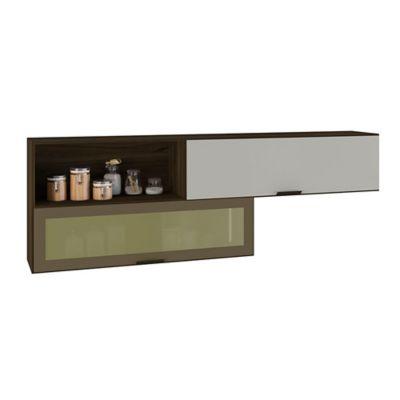 Mueble Aereo Bello Horizont 66.5x200x35 Nuez/Blan