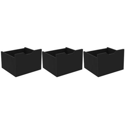 Set x3 Cajones Santos 32.8x23.2x30.8 Negro