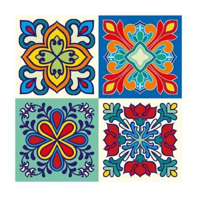 Mosaico 4 Piezas 10x10cm Resina Poliuretano 305