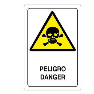 Señal Peligro 32.5X22.5Cm Vinilo Adhesivo