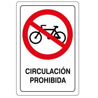 Señal Circulación Prohibida 32.5X22.5Cm Viniloa