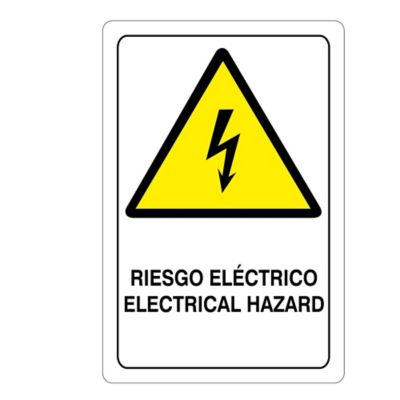 Señal Riesgo Eléctrico 32.5X22.5Cm Poliestireno
