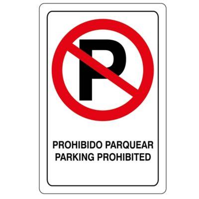 Señal Prohibido Parquear 32.5X22.5 Cm