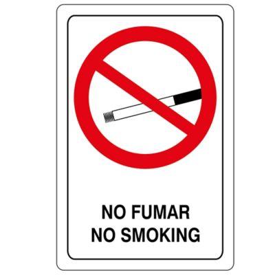 Señal Reglamentaria No Fumar 32.5X22.5 Cm