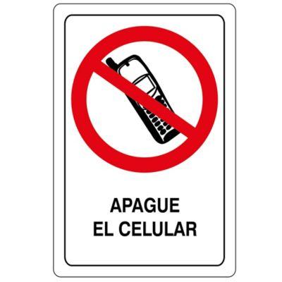 Señal Apague El Celular 32.5X22.5 Cm